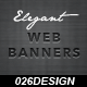 Elegant Web Banners - GraphicRiver Item for Sale