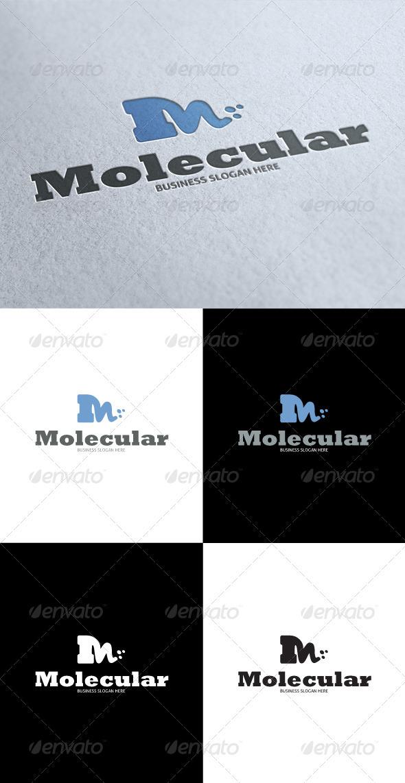 GraphicRiver Molecular M Letter Logo 3449569
