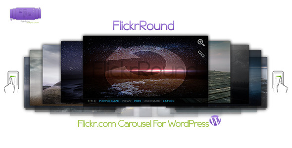 CodeCanyon FlickrRound WordPress Carousel Flickr.com images 3449787