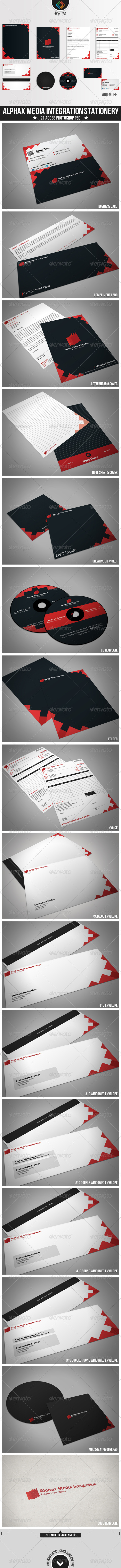 Alphax Media Integration Stationery - Stationery Print Templates