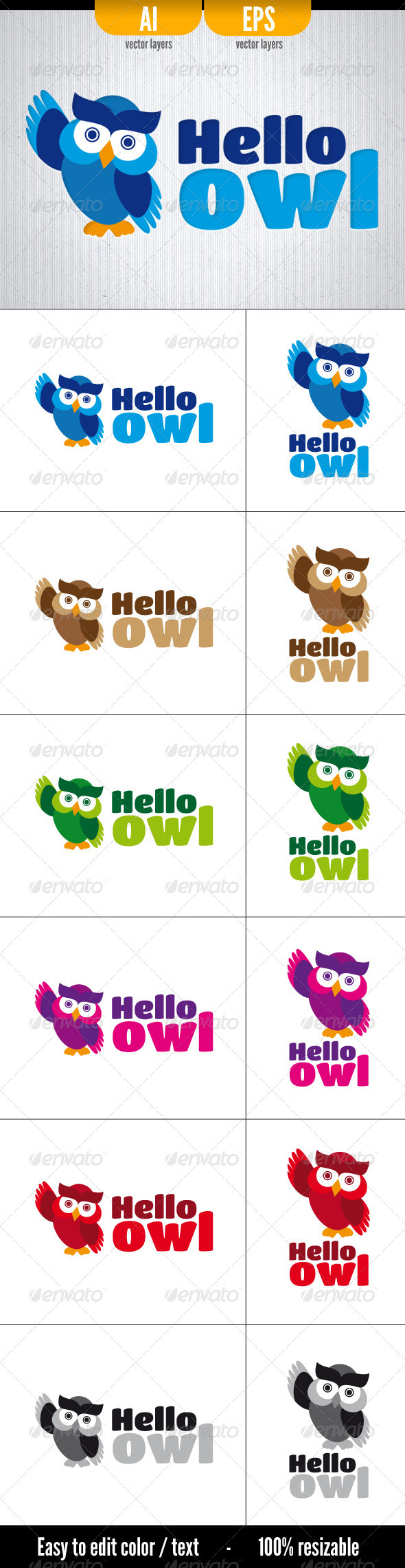 GraphicRiver Hello Owl 3449896