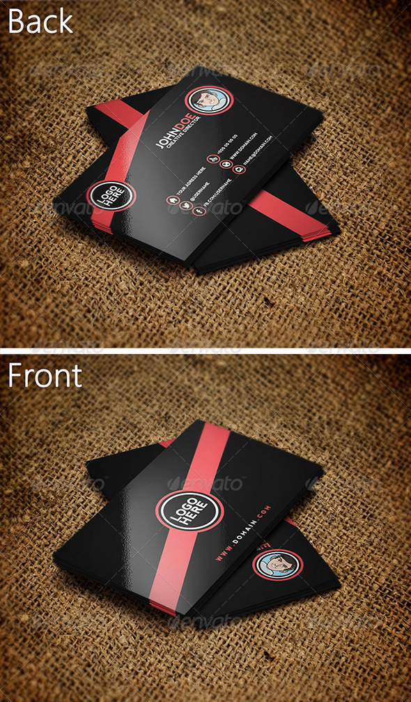 GraphicRiver Black Business Card 3 3450291