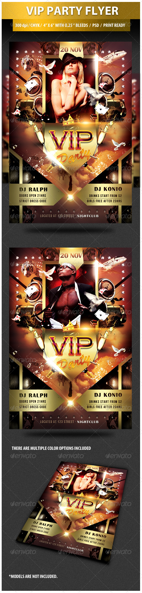 GraphicRiver VIP Party Flyer - 2 3433115 Created: