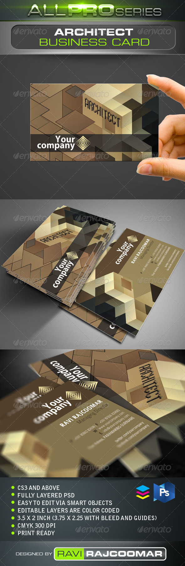 GraphicRiver Architect Business Card 3450471