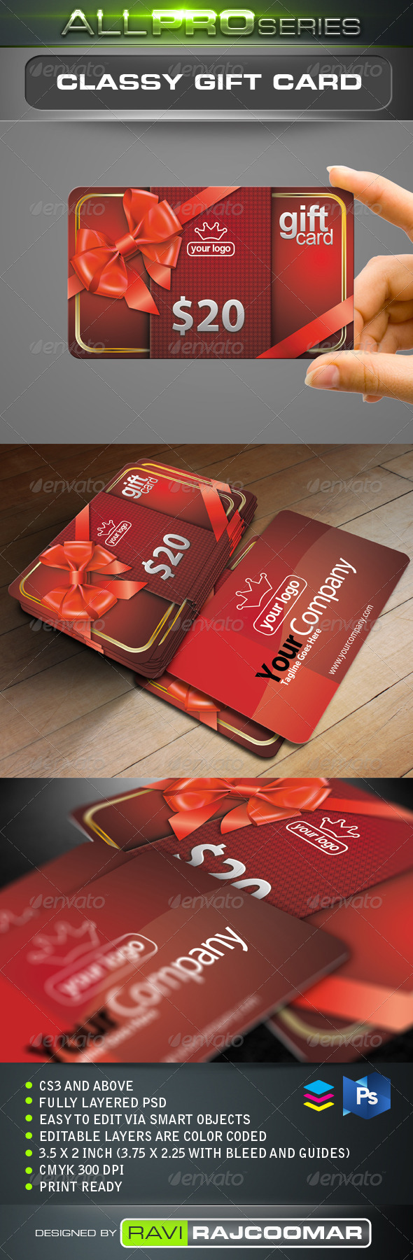 GraphicRiver Classy Gift Card 3450488