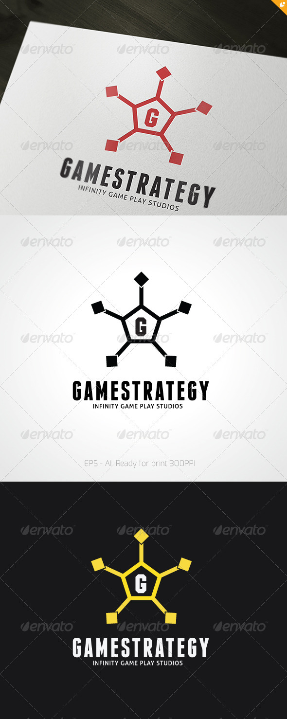 GraphicRiver Game Strategy Logo 3450911