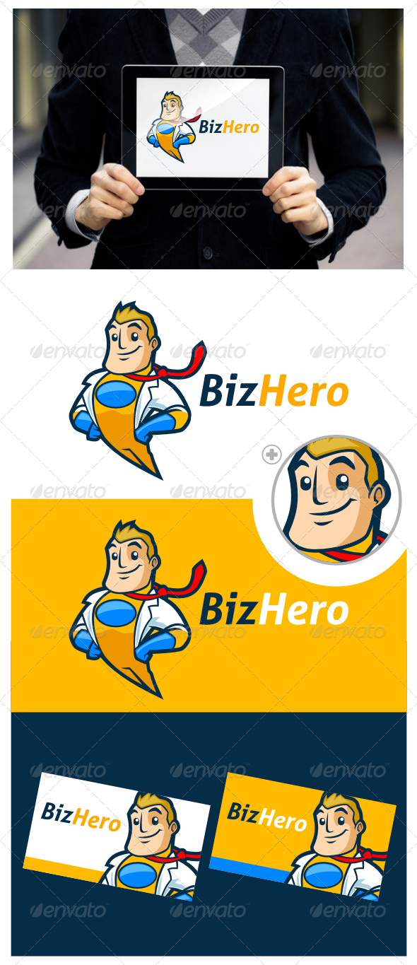 Superhero Logo Template - Humans Logo Templates