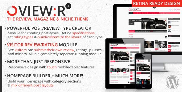 Viewr, visitorauthor review magazine niche theme
