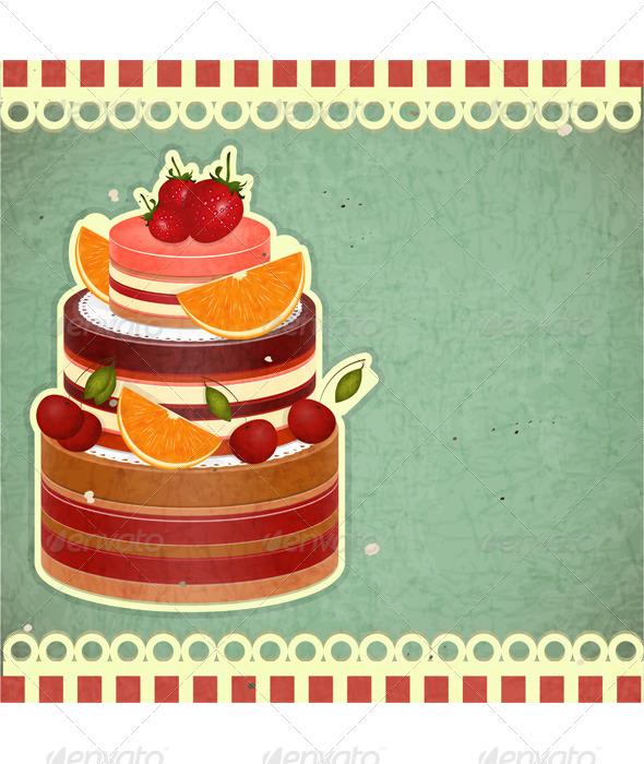 GraphicRiver Cover retro dessert Menu 3451456