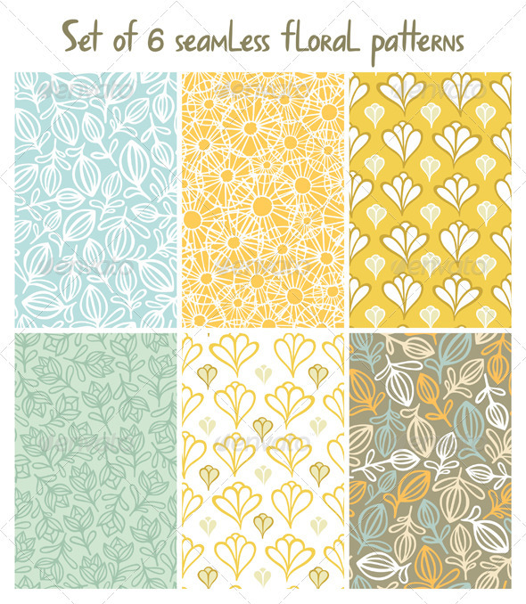 GraphicRiver Floral Patterns Set 3451500