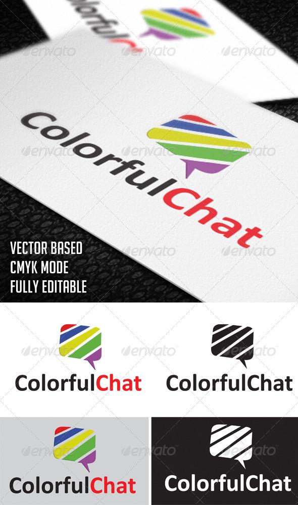 GraphicRiver ColorfulChat Logo 3408111