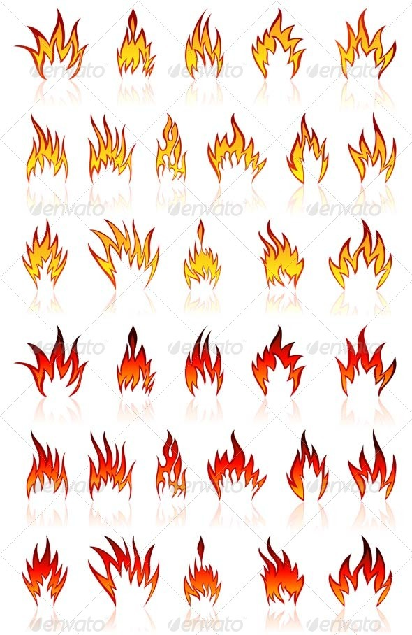 GraphicRiver Fire Icon Set 3451803