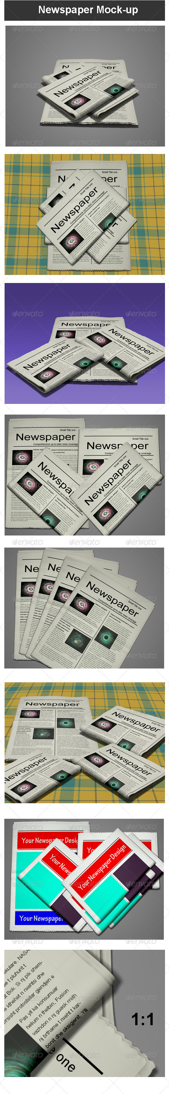 GraphicRiver Newspaper Mock-up 3451979