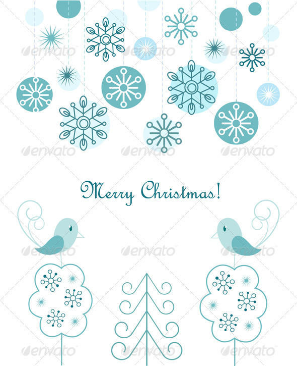 Christmas Balls And Snowflakes Background