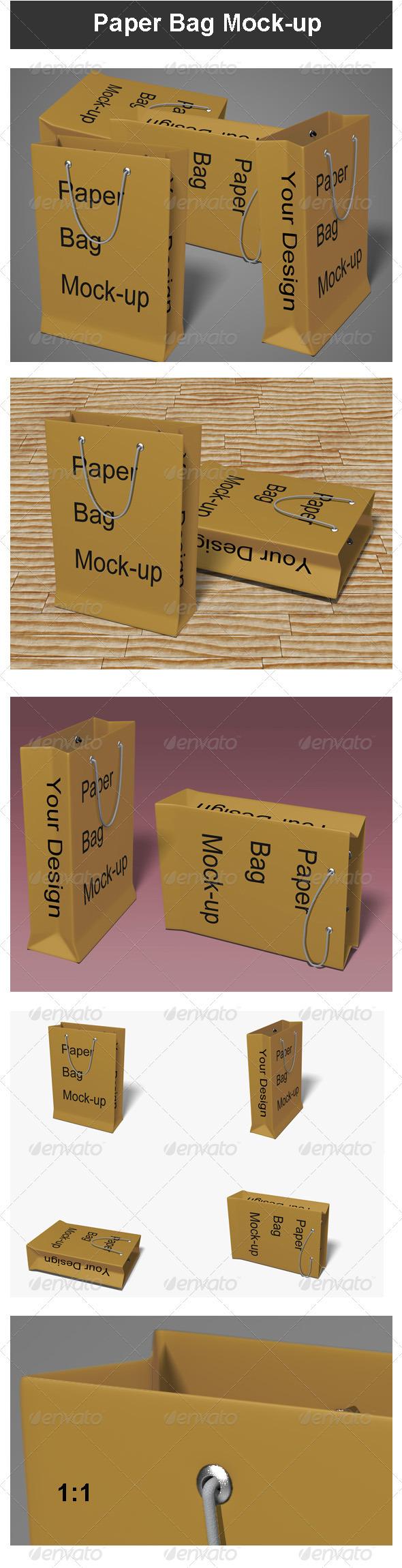 GraphicRiver Paper Bag Mock-up 3452430