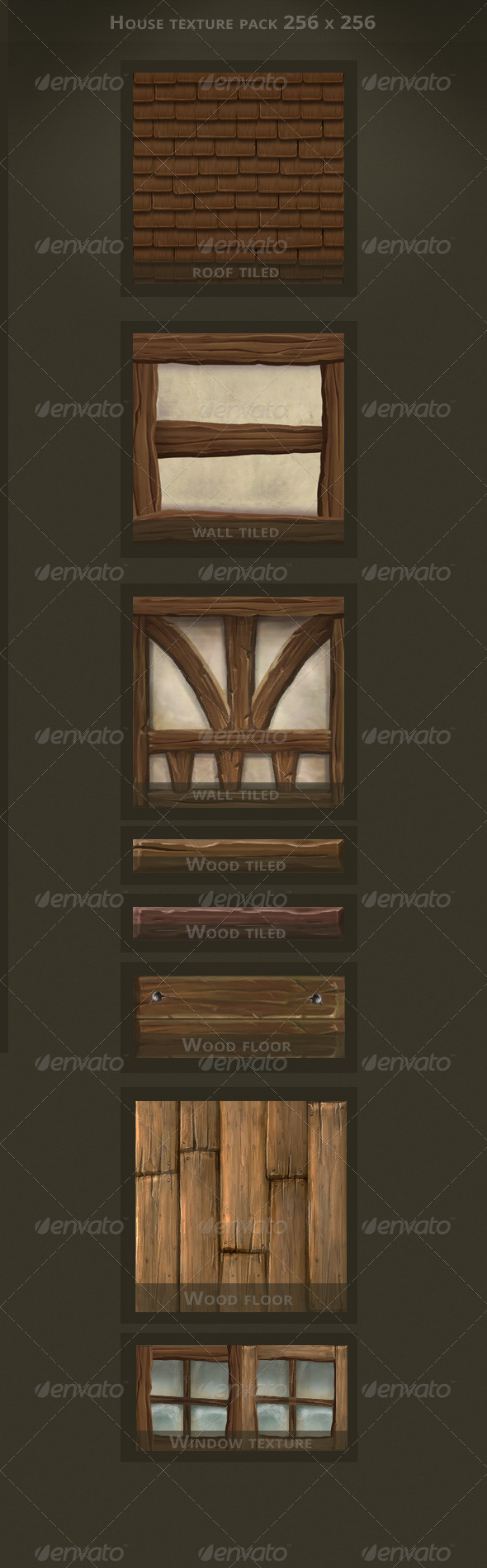 3DOcean Hand Painted House Textures 3452767