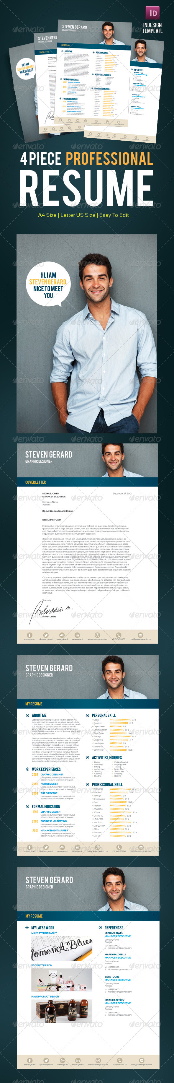 GraphicRiver Professional Resume 3452999