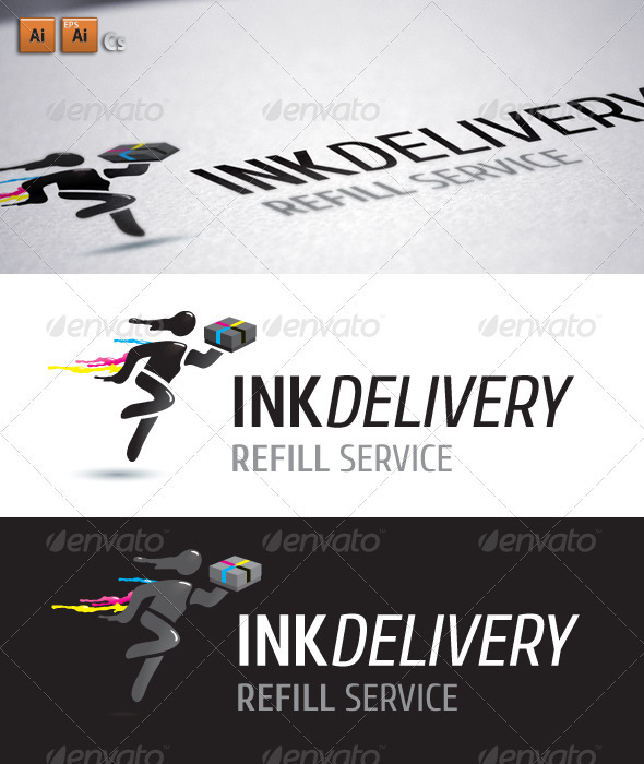 Ink Delivery - Humans Logo Templates