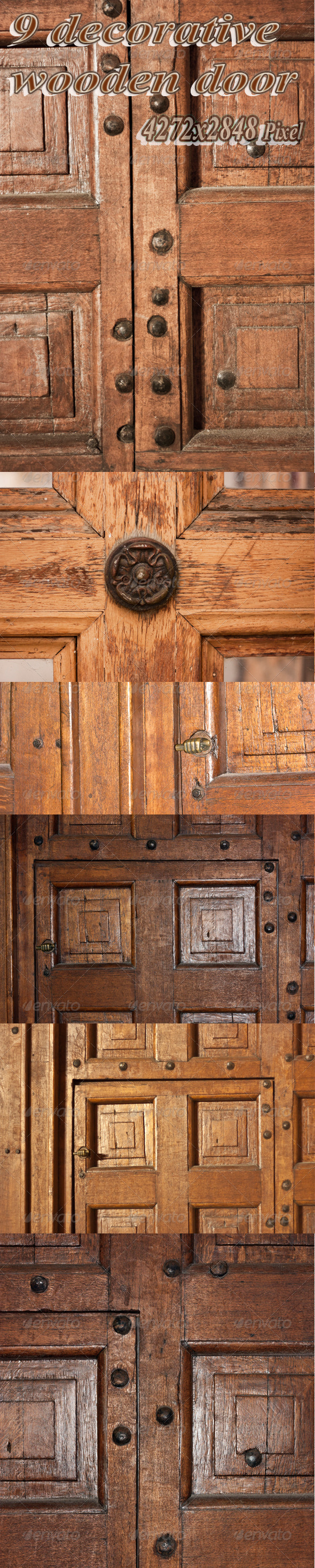 Decorative Wooden Door - Wood Textures