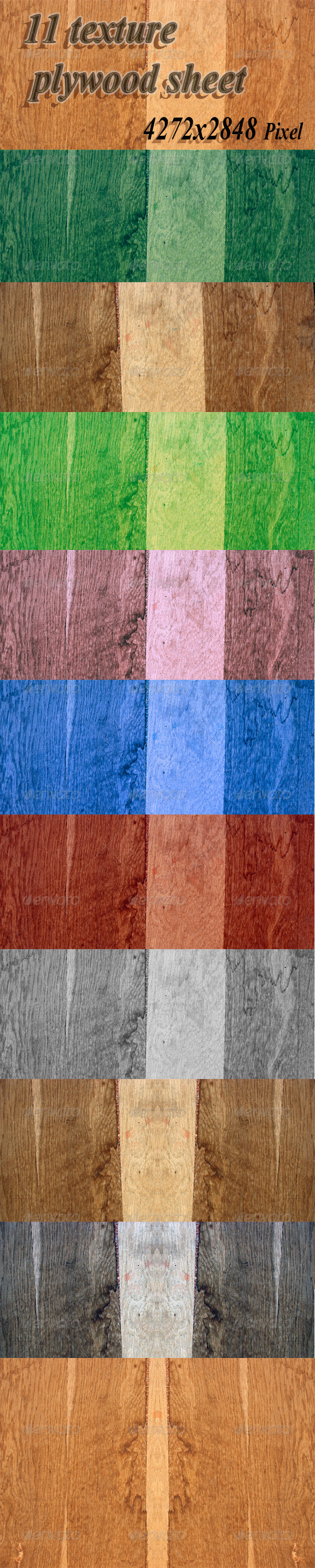 Texture of the Sheet of Plywood - Wood Textures