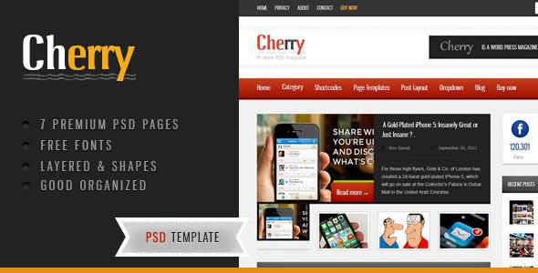 ThemeForest Cherry Creative PSD 3435341