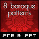 8 Tileable Baroques Backgrounds Textures & Pattern - GraphicRiver Item for Sale