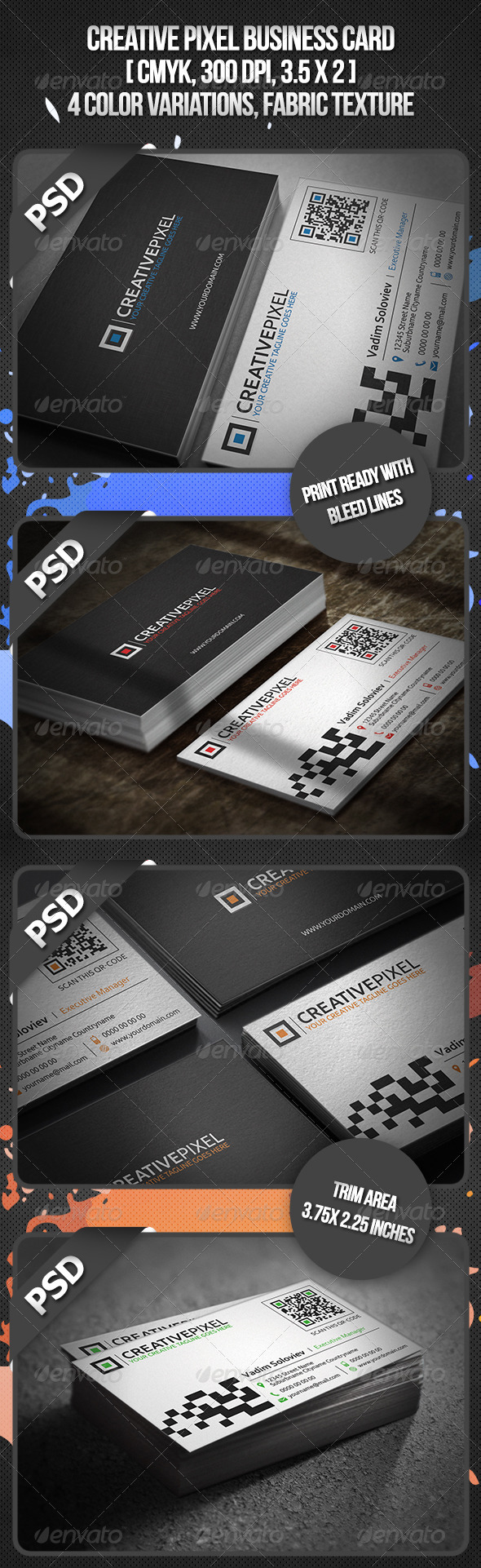 GraphicRiver Creative Pixel Business Card 3454963