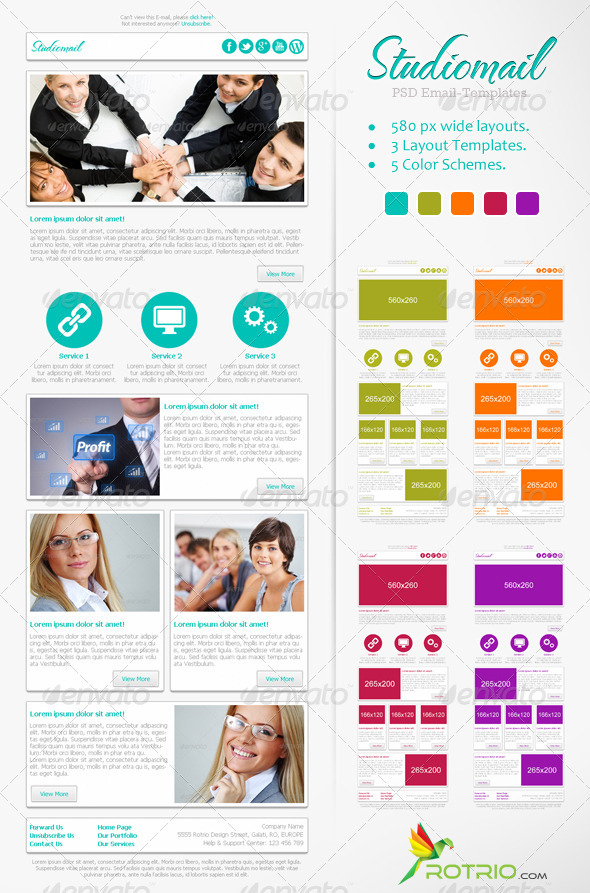 GraphicRiver StudioMail Email Template 3455145