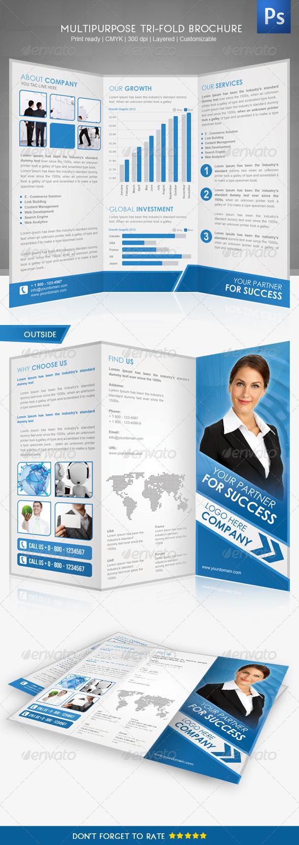 GraphicRiver Corporate Tri-Fold Brochure II 3327317