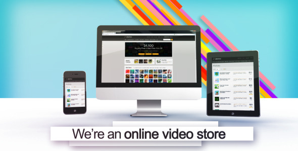 VideoHive Online Shop Promotion With 3D Screens 3455351