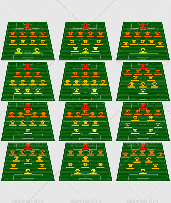 Football tactical schemes