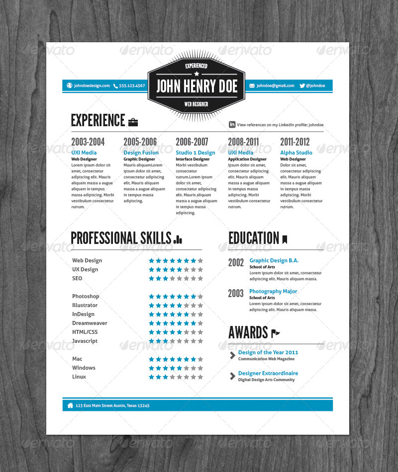 vintage resume template by 3 vintage style resume pack by graphicmonkee graphicriver - Vintage Resume Template