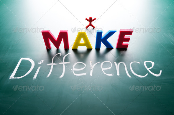 I make difference concept - Stock Photo - Images