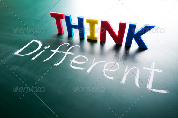 Think different concept - Stock Photo - Images