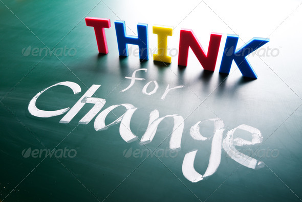 Think for change concept - Stock Photo - Images