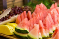 Fresh Cut Watermelon, Pineapple Slices and Grapes on Platter - PhotoDune Item for Sale