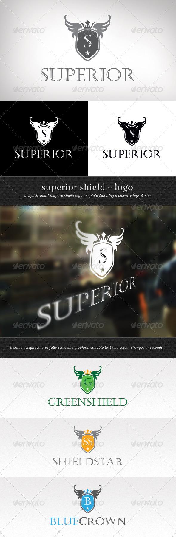 GraphicRiver Superior Shield Logo 3455843