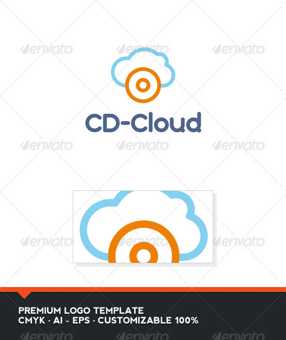 GraphicRiver CD-Clud Logo Template 3455932