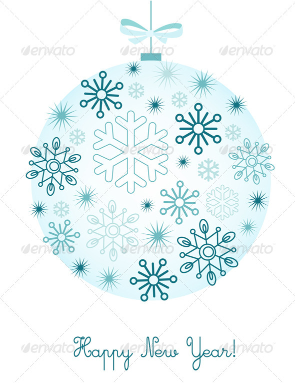 GraphicRiver New Year Background With Snowflakes 3428007