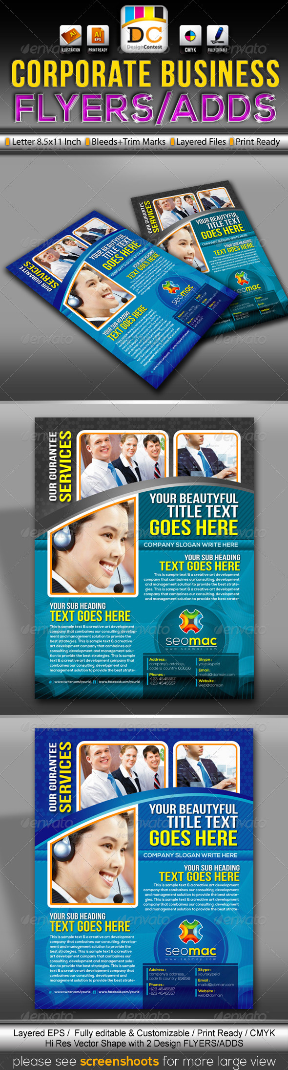 GraphicRiver SeoMac Corporate Business Flyers Adds 3414722