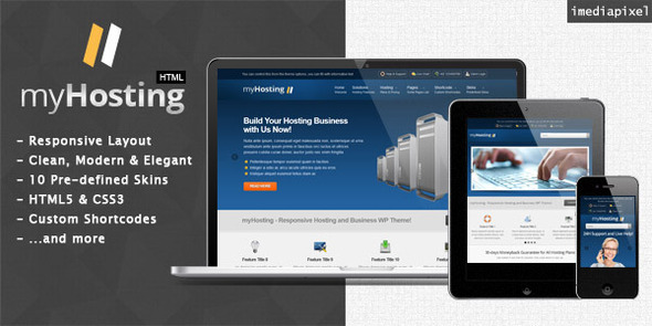 ThemeForest myHosting Responsive Hosting & Business Template 3456093