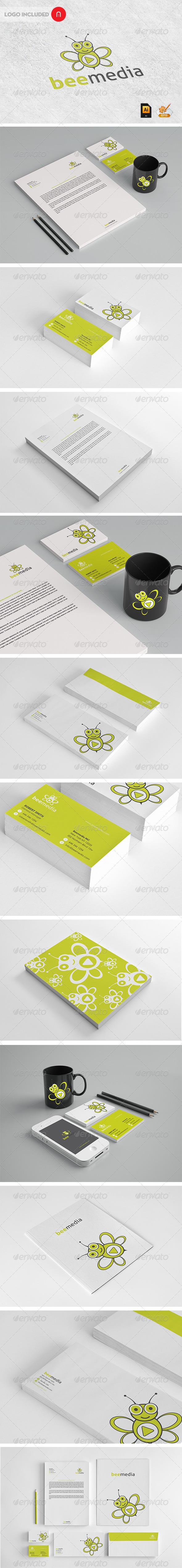 GraphicRiver Stationary & Identity Bee Media 3456161