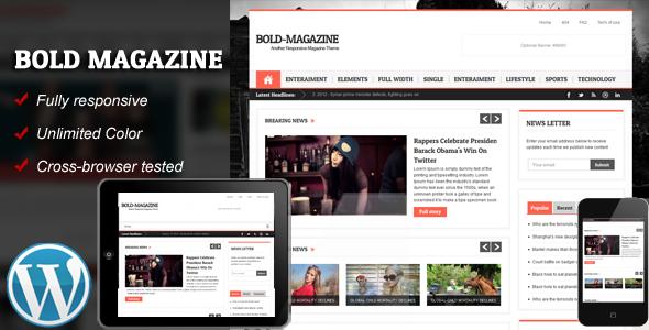 ThemeForest Bold Magazine Responsive WordPress Theme 3456311