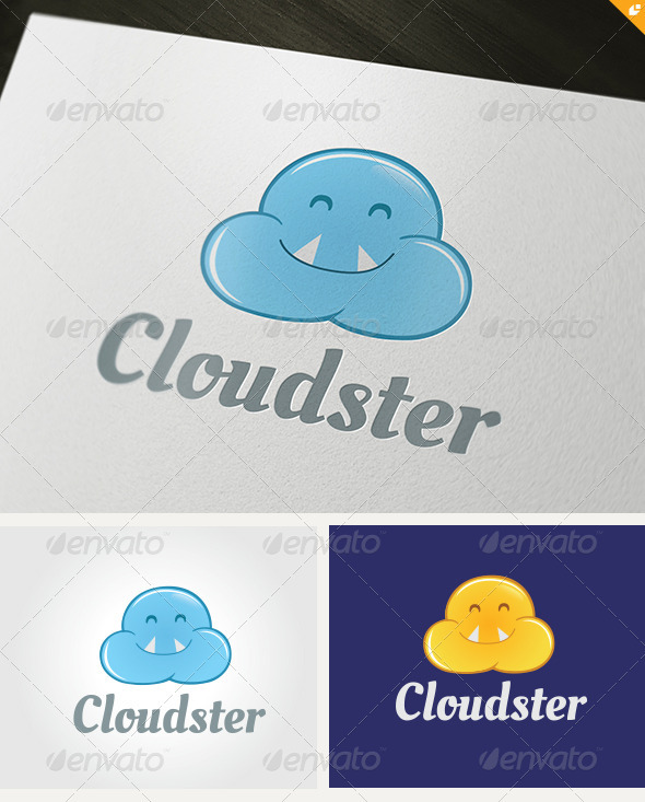 GraphicRiver Cloudster Logo 3456685