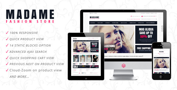 ThemeForest Madame Responsive Fashion Store Magento Theme 2791232