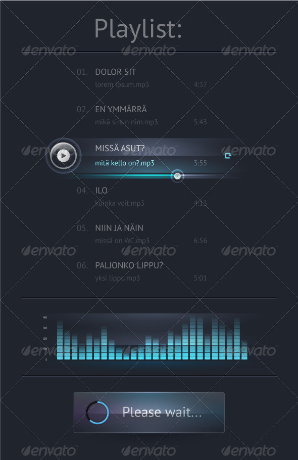 GraphicRiver Elements of User Interface for Web 3456825