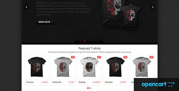 ThemeForest T-shirts OpenCart Theme 3457019