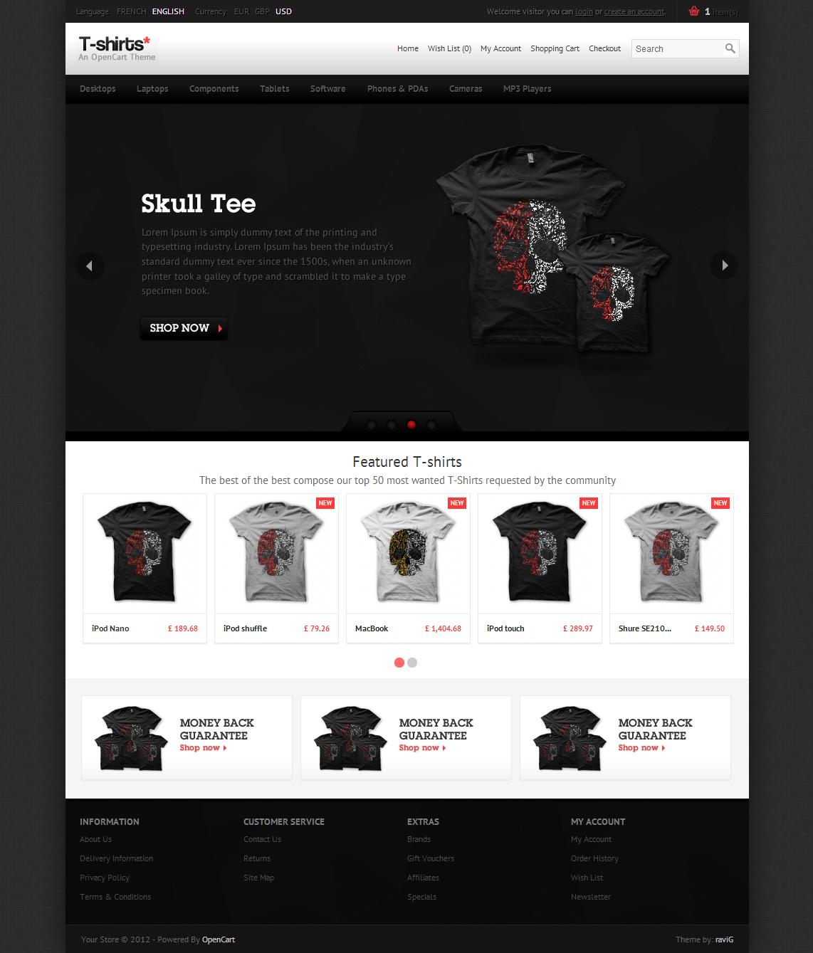 T-shirts  OpenCart Theme