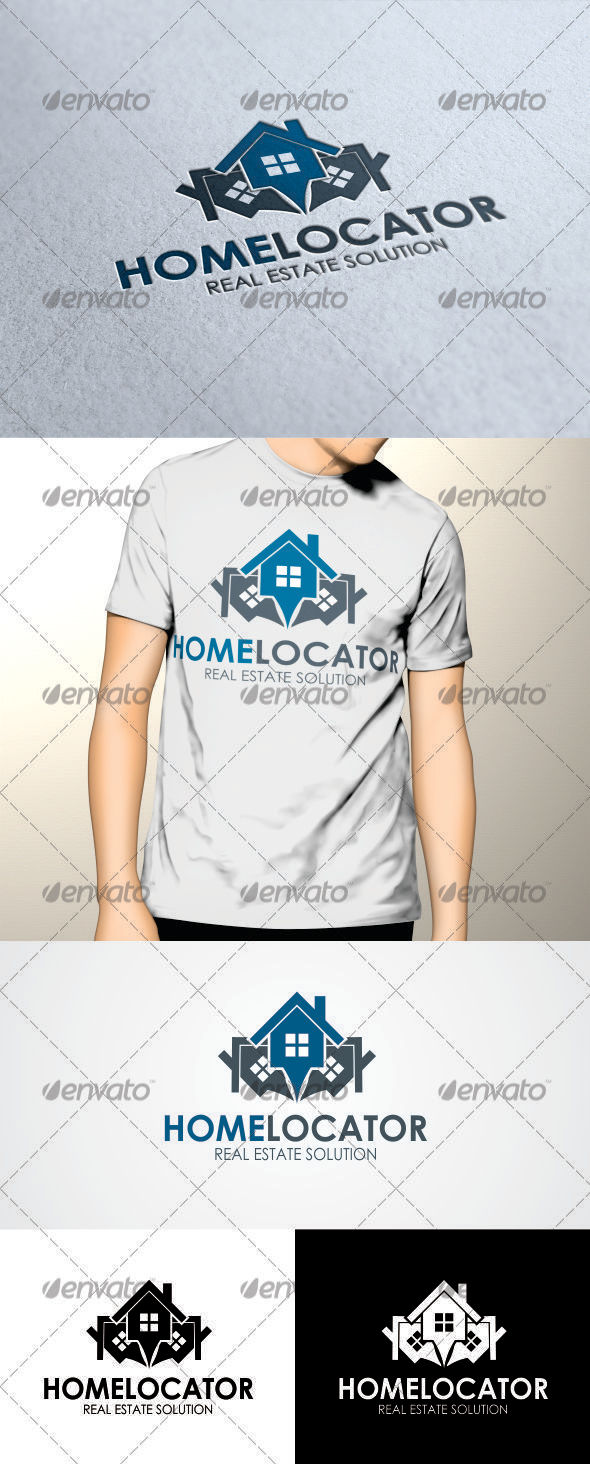 GraphicRiver Home Locator Logo Template 3457029