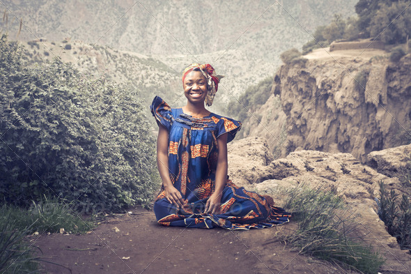 Black Girl in Africa - Stock Photo - Images